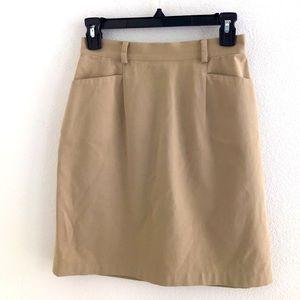 Façonnable A-Line Skirt Khaki Size 2